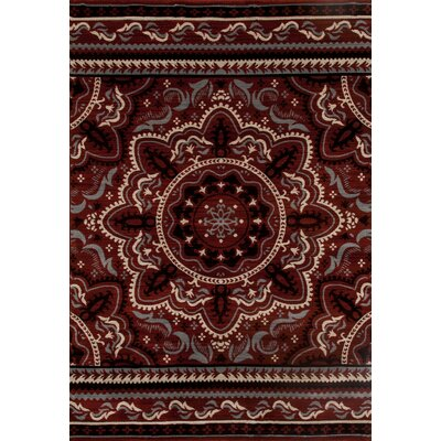 Highland Red Area Rug Rug Size: 92 x 126