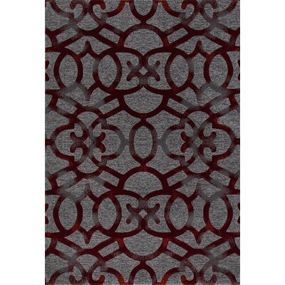 Delanie Red Area Rug Rug Size: 53 x 77
