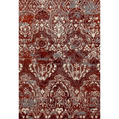 Hewish Red Area Rug Rug Size: 92 x 124