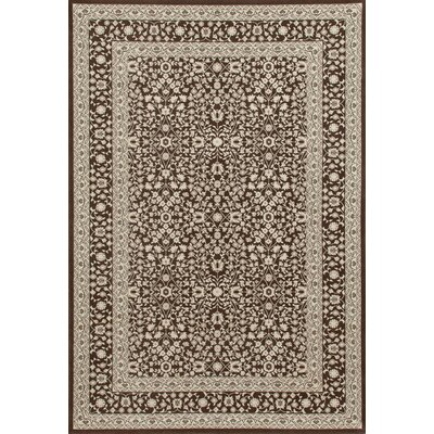 Lang Brown Area Rug Rug Size: 92 x 124