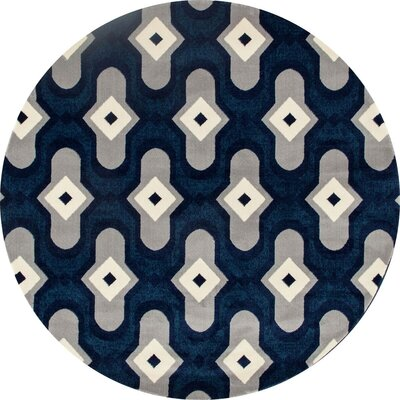 Dexter Peacock Area Rug Rug Size: Round 710