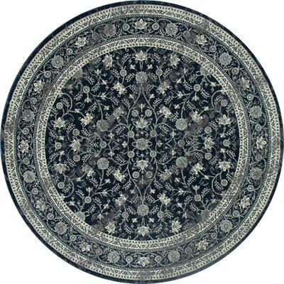 Channel Steel Blue Area Rug Rug Size: ROUND 710