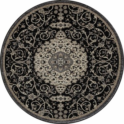 Landy Black Area Rug Rug Size: ROUND 710