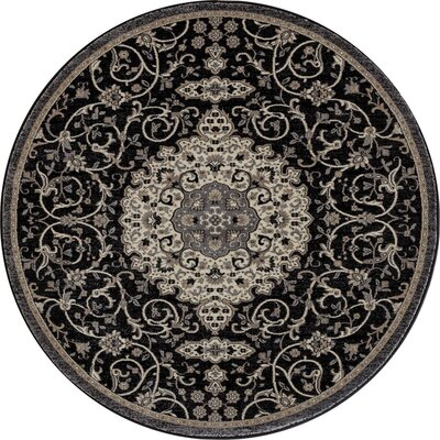 Landy Black Area Rug Rug Size: 92 x 126