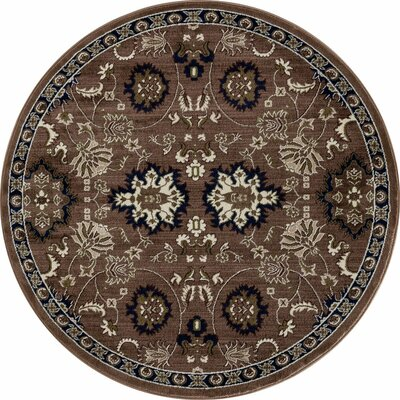 Hudson Brown/Cream Area Rug Rug Size: ROUND 710