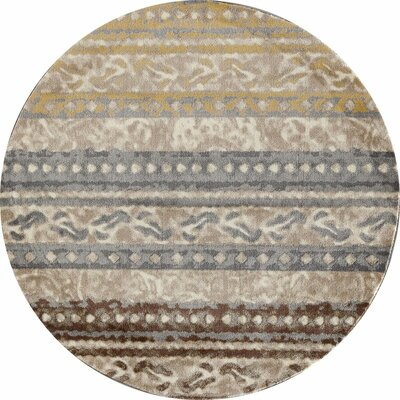 Hersom Beige Area Rug Rug Size: 53 x 77
