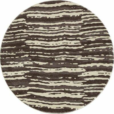 Hershberger Mushroom Area Rug Rug Size: ROUND 53