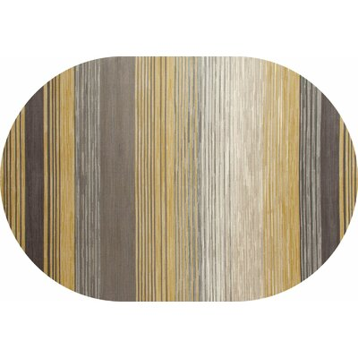 Vassallo Yellow Area Rug Rug Size: OVAL 53 x 77