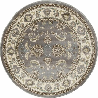 Jack Gray Area Rug Rug Size: ROUND 53