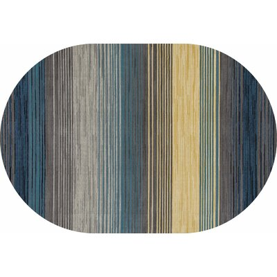Vassallo Gray Area Rug Rug Size: OVAL 53 x 77