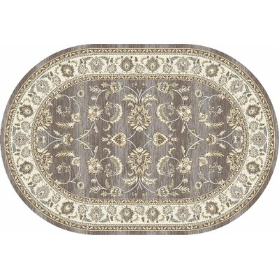 Arabella Gray Area Rug Rug Size: Oval 7 x 9