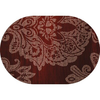 Bastille Red Area Rug Rug Size: Oval 4 x 6