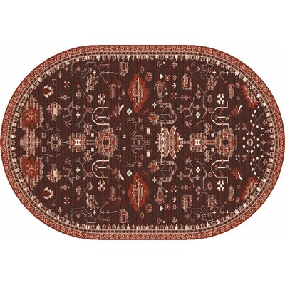 Arabella Red Area Rug Rug Size: 7 x 9