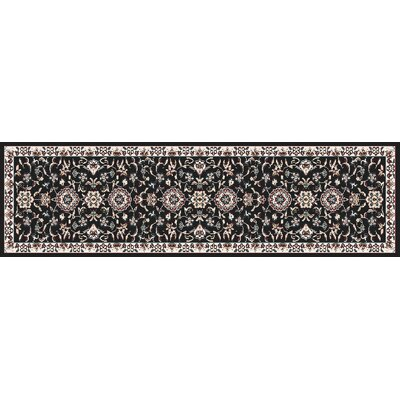 Arabella Black Area Rug Rug Size: Runner 2 x 8