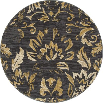Klahn Brown Area Rug Rug Size: ROUND 53