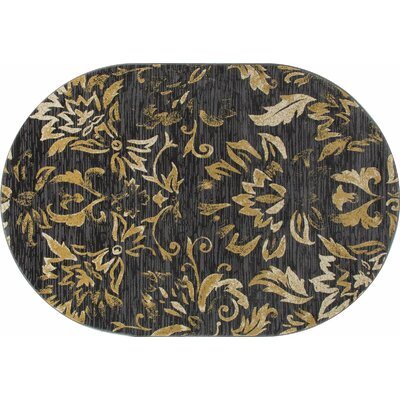 Bastille Brown Area Rug Rug Size: Oval 4 x 6