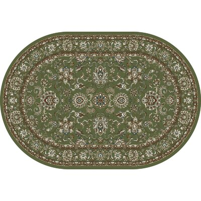 Arabella Green Area Rug Rug Size: Oval 7 x 9