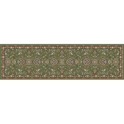 Arabella Green Area Rug Rug Size: Runner 2 x 8