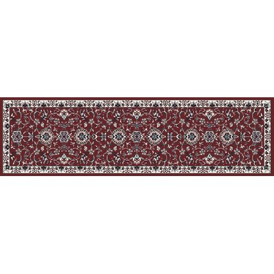 Arabella Red Area Rug Rug Size: Runner 2 x 8