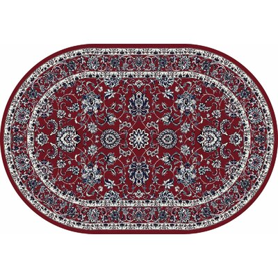 Jack Red Area Rug Rug Size: OVAL 67 x 96