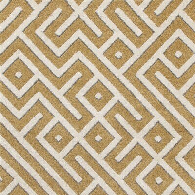 Highline Yellow Area Rug Rug Size: Square 7