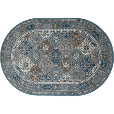Arabella Multi-Colored Area Rug Rug Size: Oval 7 x 9