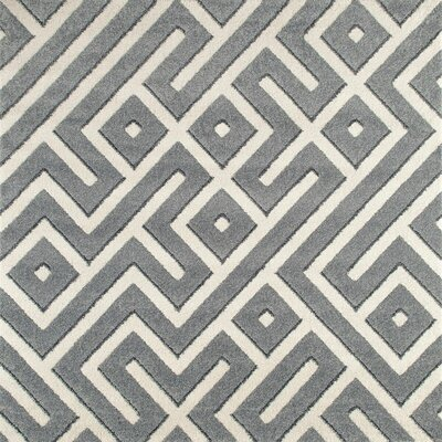 Highline Gray Area Rug Rug Size: Square 7