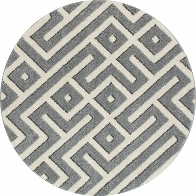 Highline Gray Area Rug Rug Size: 4 x 5