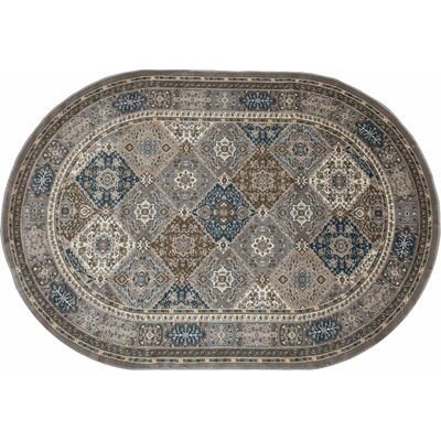 Arabella Gray Area Rug Rug Size: Oval 7' x 9'