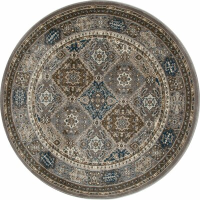 Jack Gray Area Rug Rug Size: ROUND 710