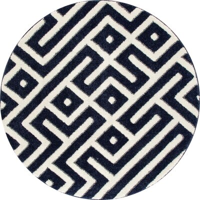 Charette Navy Blue Area Rug Rug Size: ROUND 710