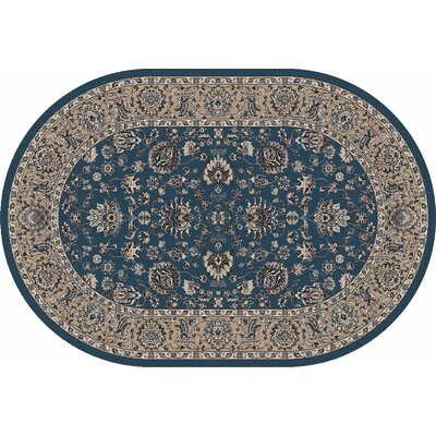 Arabella Blue Area Rug Rug Size: Oval 7 x 9