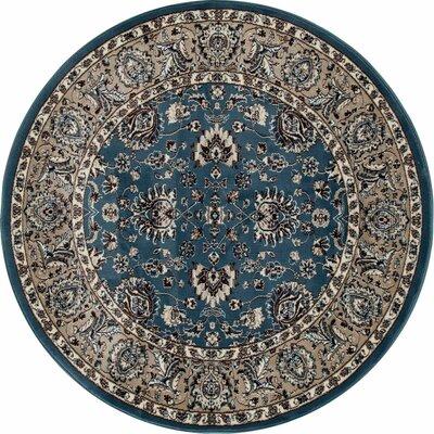 Arabella Blue Area Rug Rug Size: Round 5
