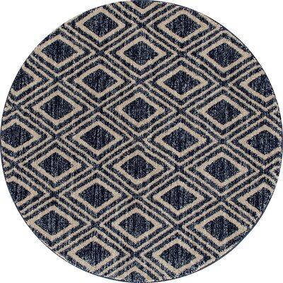 Highline Navy Blue Area Rug Rug Size: Round 8
