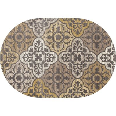 Arabella Yellow Area Rug Rug Size: Oval 7 x 9