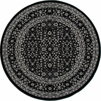Kensington Black Area Rug Rug Size: Oval 5 x 8