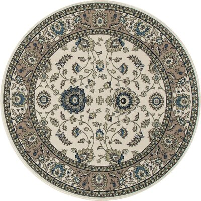 Lang Cream Area Rug Rug Size: ROUND 53