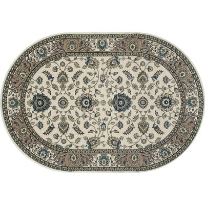 Kensington Cream Area Rug Rug Size: Oval 7 x 10
