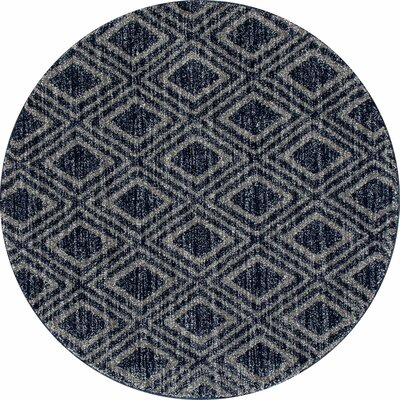 Highline Gray Area Rug Rug Size: Round 5'