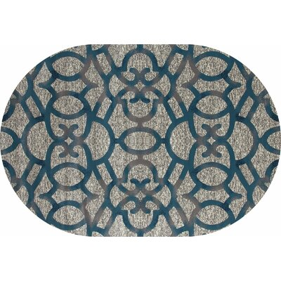 Delanie Gray Area Rug Rug Size: OVAL 53 x 77
