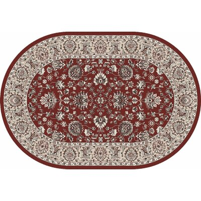 Jack Red Area Rug Rug Size: OVAL 6'7 x 9'6