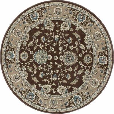 Kensington Brown Area Rug Rug Size: Round 8