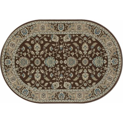 Kensington Brown Area Rug Rug Size: Oval 4 x 6