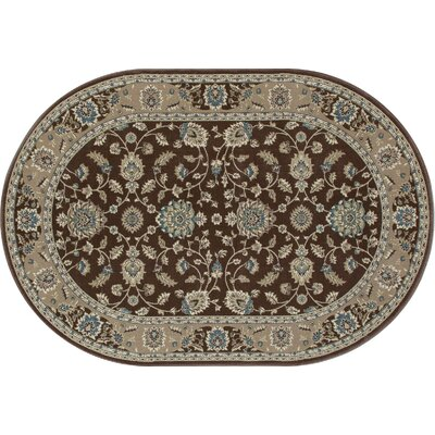 Lang Brown Area Rug Rug Size: OVAL 53 x 77