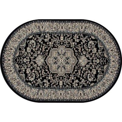 Lang Black Area Rug Rug Size: 92 x 124