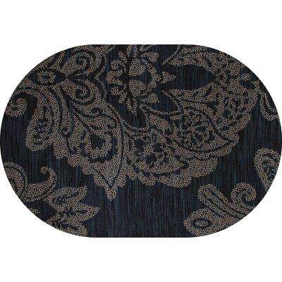 Klahn Blue Area Rug Rug Size: OVAL 67 x 96