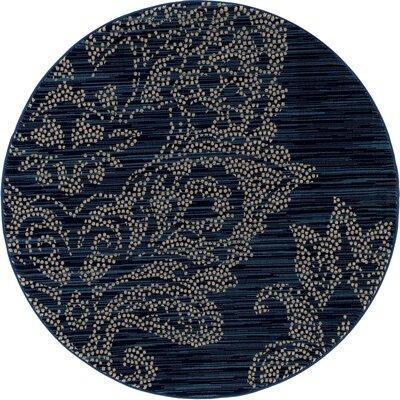 Klahn Blue Area Rug Rug Size: ROUND 53