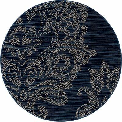 Klahn Blue Area Rug Rug Size: ROUND 710