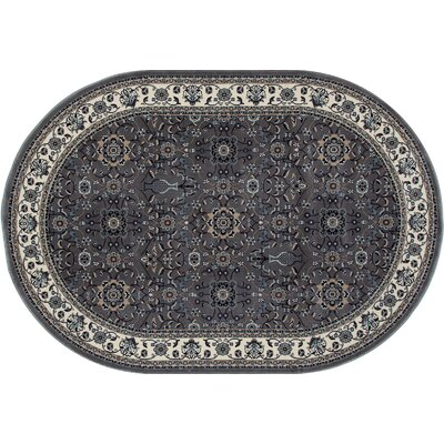Kensington Gray Area Rug Rug Size: Oval 7 x 10