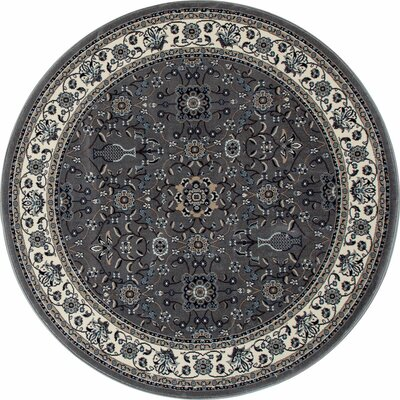 Lang Gray Area Rug Rug Size: ROUND 53